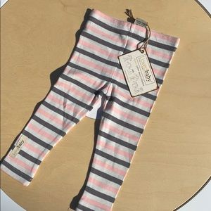 Other - Lovedbaby pink coral gray stripe leggings